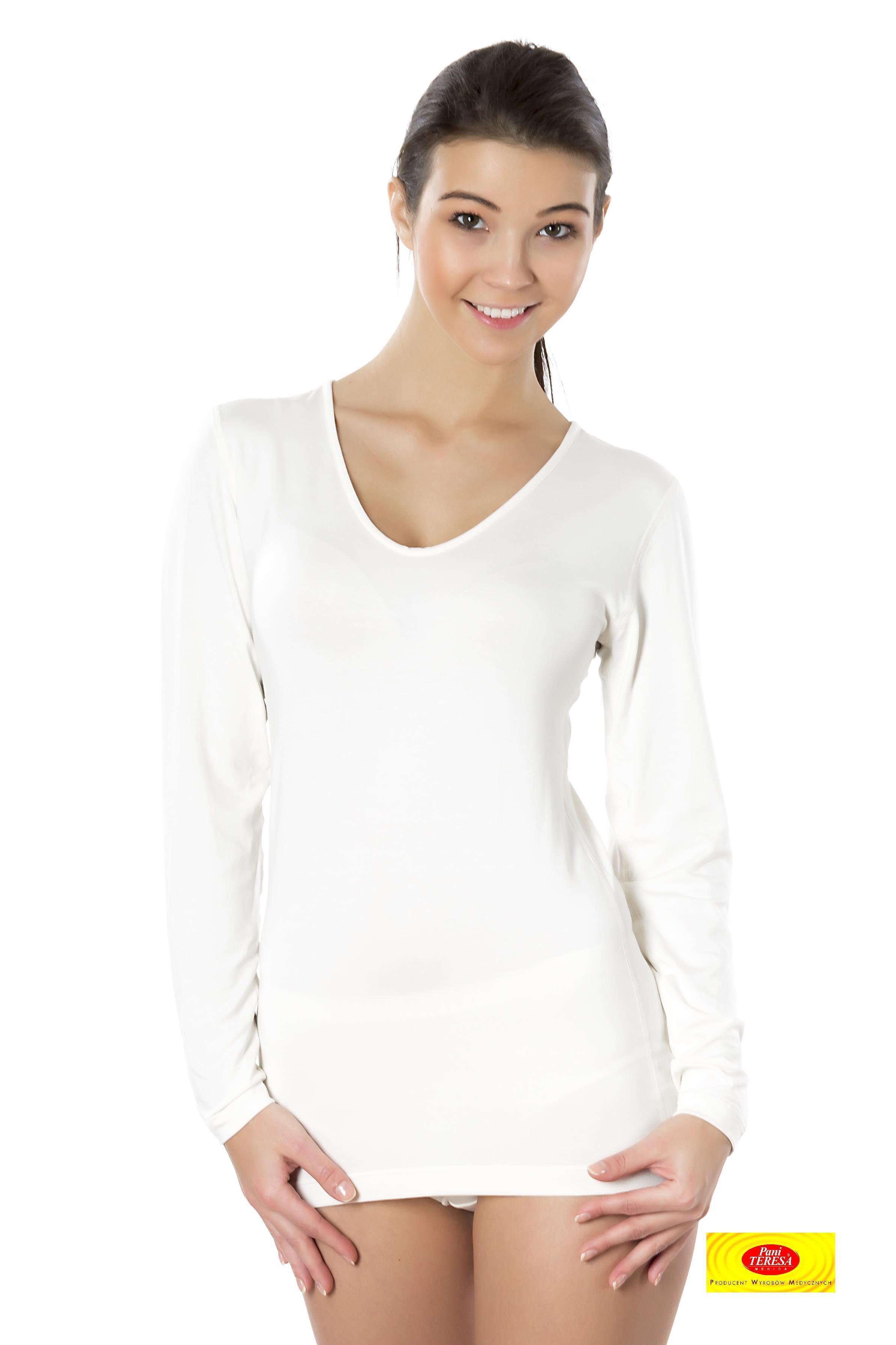 cae71c825c5fa Camiseta Int. Mujer M L Cuello Pico 95% - Salutex
