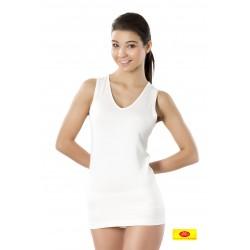 Camiseta Int. Mujer S/M  Cuello Pico 95%