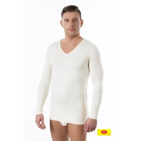 Camiseta Int. Hombre M/L  Cuello Pico