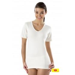 Camiseta Mujer M/C Ambar Cuello Pico