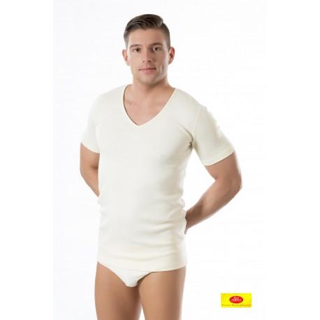 Camiseta Homb. M/C Ambar Cuello Pico