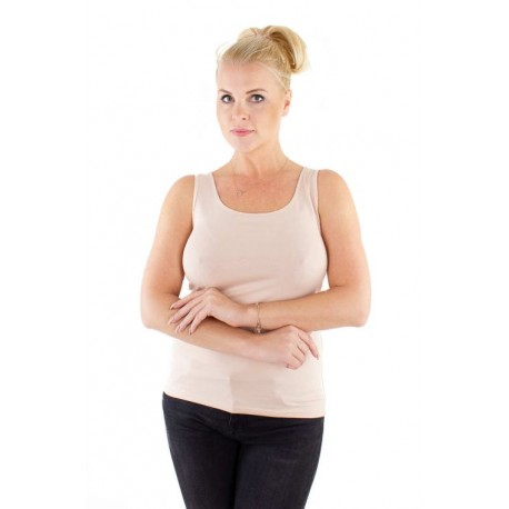 Camiseta Sin Mangas Mujer Modal+Algodón